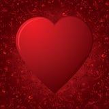Het hart op rode achtergrond royalty-vrije illustratie