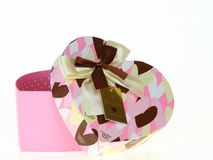Het hart roze doos van de gift Royalty-vrije Stock Afbeeldingen