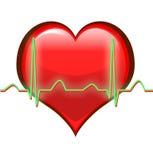 Het hart slaat Stock Foto's
