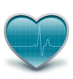 Het hart slaat stock illustratie
