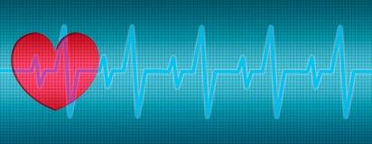 Het hart slaat, ECG, krommen, diagram royalty-vrije illustratie