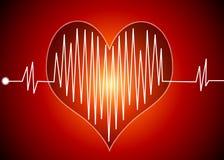 Het hart sloeg Royalty-vrije Stock Afbeelding