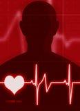 Het hart sloeg Stock Foto's