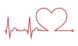Het hart sloeg cardiogram Hartcyclus Medisch pictogram royalty-vrije illustratie