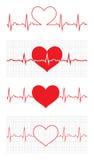 Het hart sloeg cardiogram Hartcyclus Medisch pictogram Stock Foto