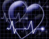 Het hart sloeg op een monitor Royalty-vrije Stock Foto's