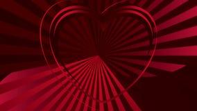 Het hart is het symbool van liefde en hartstocht royalty-vrije illustratie