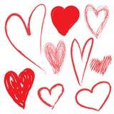 Het hart trekt Stock Foto
