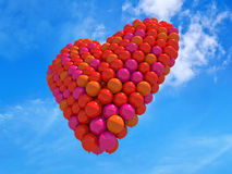 Het hart van ballons Stock Afbeeldingen