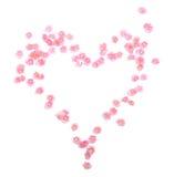 Het hart van bloemen Stock Foto