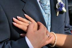 Het hart van bruidegoms Royalty-vrije Stock Foto's