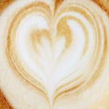 Het hart van cappuccino's Royalty-vrije Stock Foto's