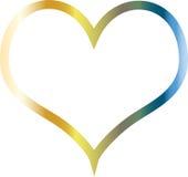Het hart van Colorflul metaal en het glanzen Stock Foto