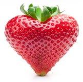 Het hart van de aardbei. Stock Fotografie