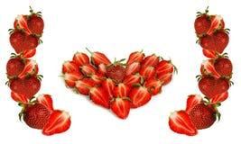 Het hart van de aardbei Stock Afbeeldingen