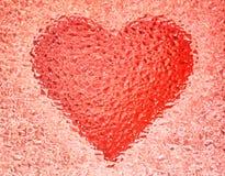 Het hart van de aardbei Royalty-vrije Stock Foto's
