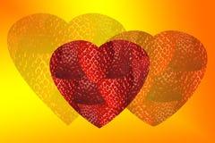 Het hart van de aardbei Royalty-vrije Stock Fotografie