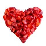Het hart van de aardbei Stock Foto