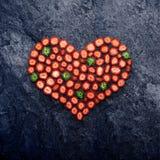 Het hart van de aardbei Stock Afbeelding