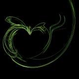 Het hart van de appel stock foto