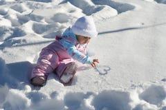 Het Hart van de Baby van de sneeuw Royalty-vrije Stock Foto