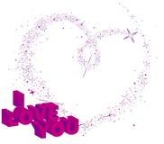 Het hart van de banner stock illustratie