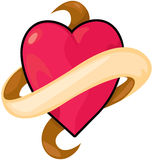Het hart van de banner Royalty-vrije Stock Fotografie