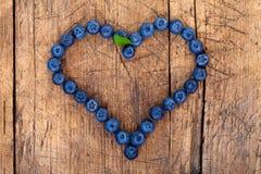 Het hart van de bes Stock Foto