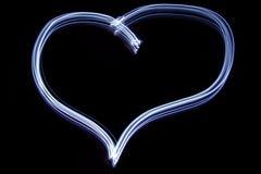 Het hart van de blauwe valentijnskaart Stock Afbeeldingen