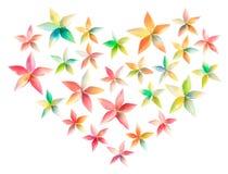 Het hart van de bloem stock afbeeldingen