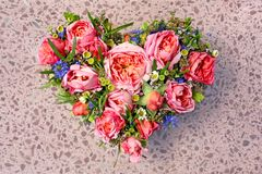 Het hart van de bloem Stock Fotografie