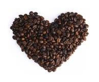 Het Hart van de Bonen van de koffie Stock Foto