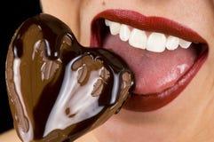 Het Hart van de chocolade Royalty-vrije Stock Afbeeldingen