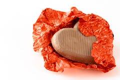 Het hart van de chocolade voor de Dag van de Valentijnskaart royalty-vrije stock afbeeldingen