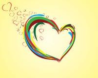 Het Hart van de Dag van de valentijnskaart Stock Illustratie