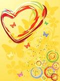 Het Hart van de Dag van de valentijnskaart Vector Illustratie