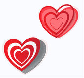 Het hart van de de dagsticker van Valentine ` s Vector Royalty-vrije Stock Afbeeldingen