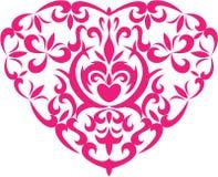 Het hart van de decoratie Stock Afbeelding