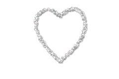 Het hart van de diamant Stock Foto
