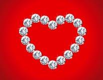 Het hart van de diamant Stock Foto's