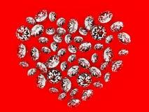 Het hart van de diamant Stock Fotografie