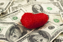 Het hart van de dollar Stock Foto's