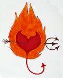 Het hart van de duivel Stock Foto