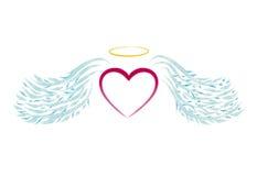 Het hart van de engel Stock Afbeeldingen