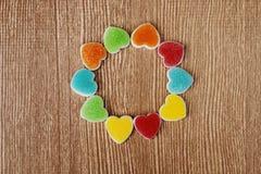 Het hart van de geleivorm in cirkel Stock Foto's