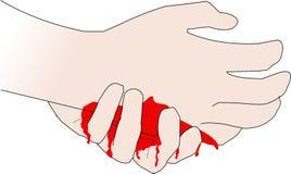 Het hart van de hand vector illustratie
