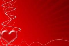 Het hart van de hartstocht voor de Dag van de Valentijnskaart royalty-vrije illustratie
