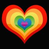 Het hart van de homosexueel royalty-vrije illustratie