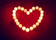 Het hart van de kaars Stock Foto
