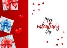 Het hart van de de kaartorigami van de valentijnskaartendag Stock Afbeeldingen
